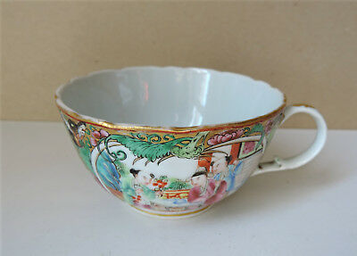 ANCIENNE TASSE A THE PORCELAINE EMAILLEE CHINE CANTON XIXe