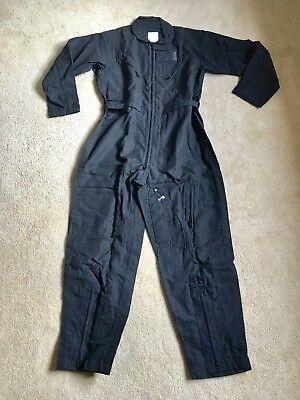 NEW NOMEX US Military Flight Suit CWU-27/P Flyers Coveralls BLACK 44R