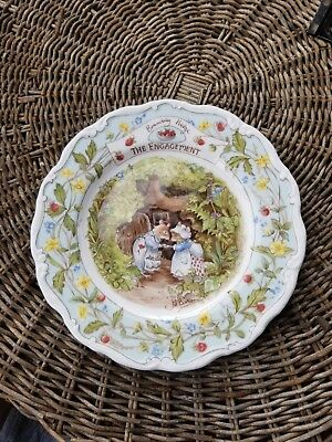 "Royal Doulton Brambly Hedge Plate, ""The Engagement"", Jill Barkham 1989"