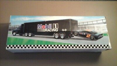 Mobil 1 Racing Toy Race Car Carrier Truck 2nd in Series 1994