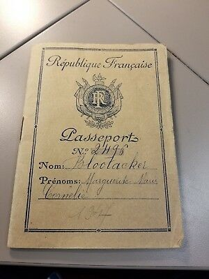 1947 France French Passport  with photo