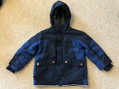Lands End squall winter coat - dark/navy blue - boys grow size M (5-6)