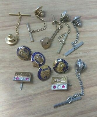 Vintage 10K Gold & Gold Filled Florida Power & Light FPL Service Pin/TieTack Lot