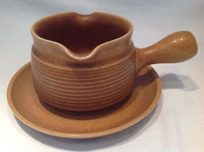 Denby Langley Canterbury Gravy Boat & Saucer Excellent Condition