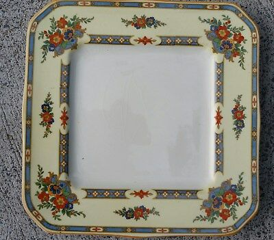 Set of 10 Myott Staffordshire Square Art Deco Luncheon Plates:  Unknown pattern