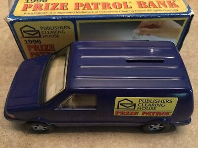 """Publisher's Clearing House Prize Patrol Bank -Car Bank 1996 NIB 7"""" Collectible"""