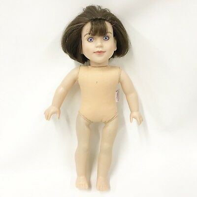 "My Twinn Doll 18"" Brown Bob Hair Bangs Bright Blue Eyes 2013"
