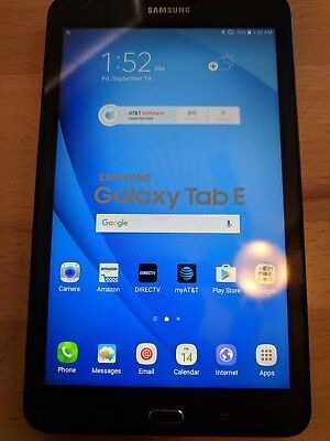"New Samsung - Sm - T377A Wifi + 4G Lte 8.0"" Tab E 16Gb Black (At&t Unlocked)"