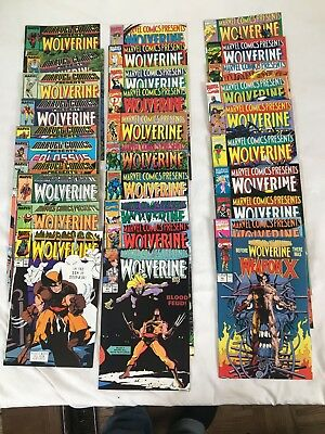 Lot Of 30 Issues Marvel Comics Presents, Wolverine And Guest Stories