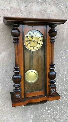 Beautiful Antique Vintage Wooden Wall Clock *