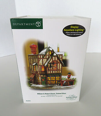 DEPARTMENT 56 Dickens Village 58751 Glaser Stained Glass Retired 2008 Dept 56