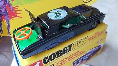 Corgi Toys 268 The Green Hornet's 'black Beauty' Vgc + Missiles + Display Box