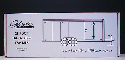 Galaxie 21 Foot Enclosed Car Trailer use with 1:24 or 1:25 scale models