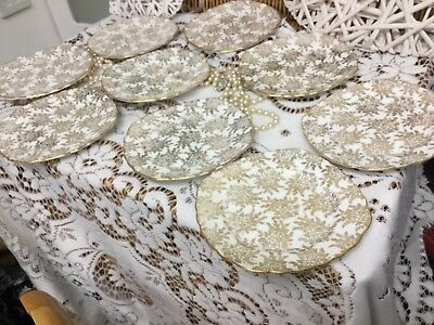 vintage c1940s beautiful royal vale cake/side/Bread & Butter plates