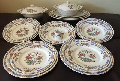 Lord Nelson Pottery Plate Set T Sing Staffordshire Serving Platters Tauren Plate