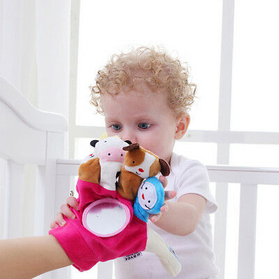Baby Kids Finger Animal Educational Story Telling Puppets Cloth Doll Plush G
