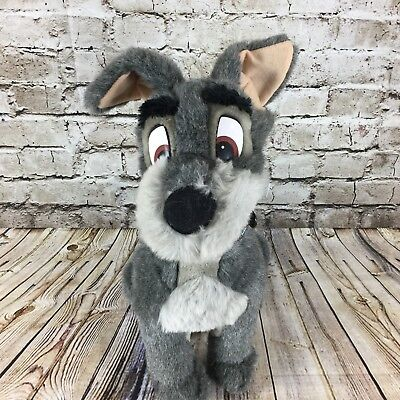 "Disney Parks Lady And The Tramp Vintage Tramp 15.5"" Tall Stuffed Animal Plush"