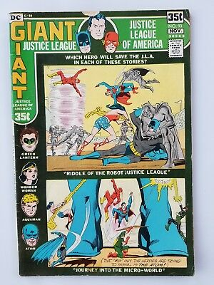 DC JUSTICE LEAGUE OF AMERICA #93 DC GIANT #G-89 1971 - Fine condition