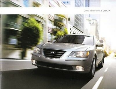 2010 10  Hyundai Sonata  original sales brochure MINT