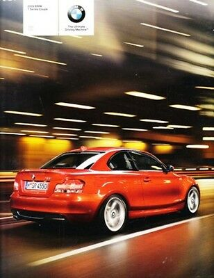 2009 09 BMW 1 Series Coupe Sales Brochure Mint