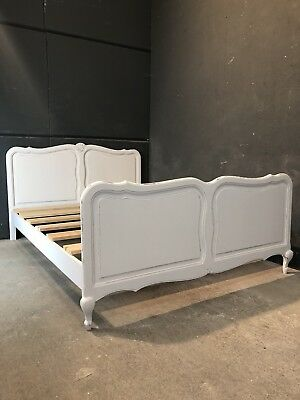 Vintage French Double size bed/ Painted French bed shabby chic style(VB175)