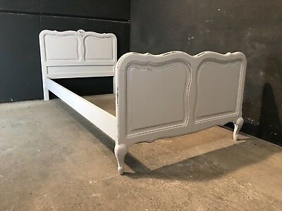 Vintage French Single size bed/ Painted French bed shabby chic style(VB173)
