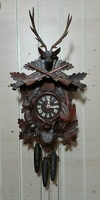 Antique Black Forrest Three Weight Musical Cuckoo Clock