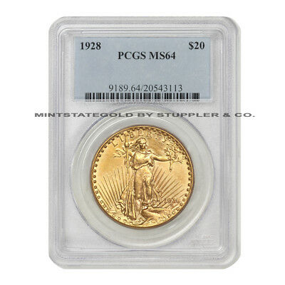 1928 $20 Saint Gaudens PCGS MS64 choice graded Gold Double Eagle Philadelphia