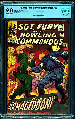 Sgt. Fury and His Howling Commandos #29 CBCS VF/NM 9.0 Off White to White