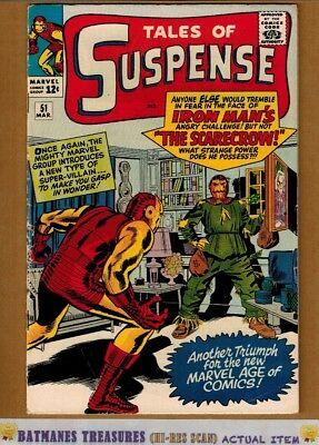 Tales of Suspense #51 (4.5) VG+ 1st Scarecrow Appearance Iron Man 1964 Stan Lee