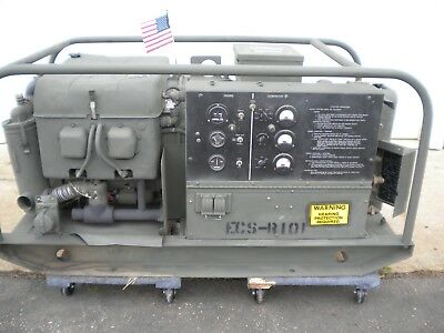 Mep-018a 10kw military generator, 17 hours on it! 4a084 III engine,