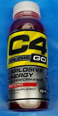 12X Cellucor C4 On The Go 0 Sugar Pre Workout Drink, Energy Drink + Beta Alanine