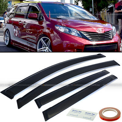 Fit 11-18 Toyota Seinna JDM Style Black Tinted Trim Window Visor Deflector