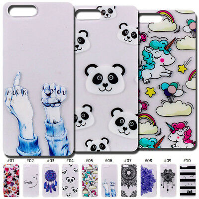 For Huawei Honor View 10/V10 TPU Back Case Cover Rubber  Cute Soft Clear Skin
