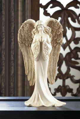 GRACEFUL ANGEL Praying Statue with Large Detailed Wings