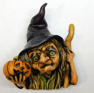 Neil Eyre Designs Halloween Witch Pumpkin Pin / Magnet ur choice NEW 2018 LE