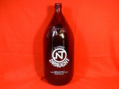 NT Draught DARWIN STUBBY Beer Bottle BUFFALO HEAD No longer Produced COLLECTORS