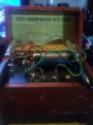 Antique Voltamp Battery No. 7 Olympia Electrotherapy Device