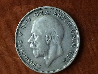 UK Great Britain  Half Crown 1932  Large Silver coin  Great Condition!  a99