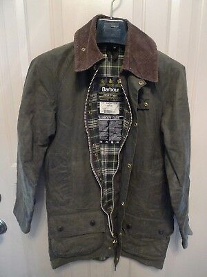Barbour - A150 Beaufort Waxed Cotton Jacket- Sage-Made@ Uk- Shabby Chic- Size 30