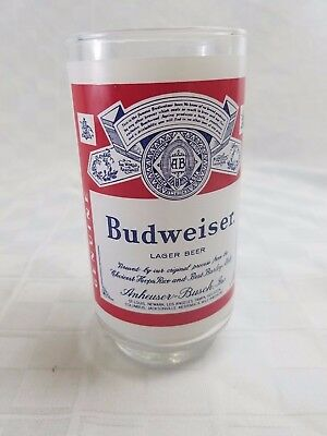 Vtg Applied Color Lable ACL BUDWEISER BEER GLASS
