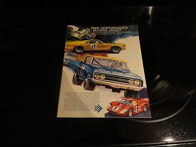 1969 Ford Performance Buyer's Digest 8 Page Special Edition Print Ad Brochure