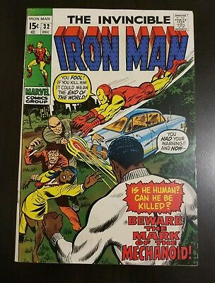 Iron Man #32 (1974) VF HIGH GRADE KEY APP AVENGERS SEE MY OTHER AUCTIONS