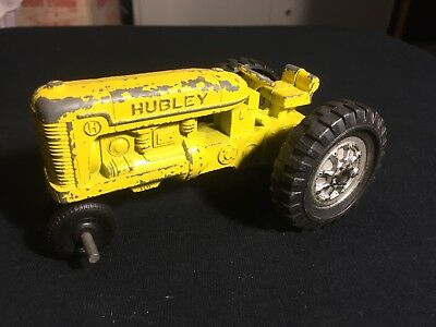 antique hubley cast iron toys Yellow Tractor