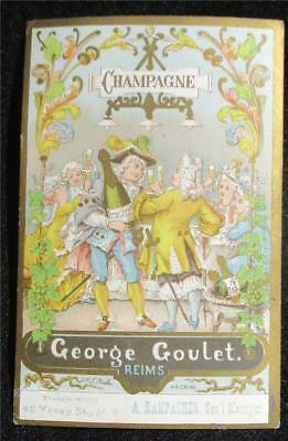 Vintage  Colorful Advertising Trade Card -  George Goulet Champagne - Reims
