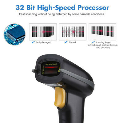 433MHz Wireless Handheld Barcode Scanner Barcode Reader IOS/Android/Window/Mac