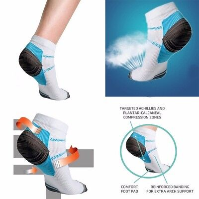 Fashion Ankle Brace Compression Support Sleeve Plantar Fasciitis Foot Socks R5gN