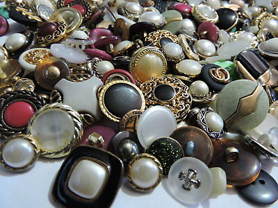 Bulk lot of 50 mixed older And Modern BUTTONS  crafts,sewing