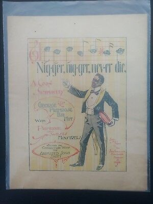 Racist Song W/ Sheet Music & Black Americana Art In 1898 SF Examiner Supplement
