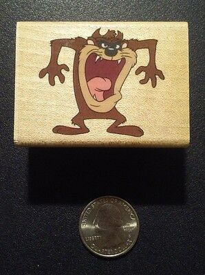 Warner Bros Tasmanian Devil Taz Looney Tunes Rubber Stampede Stamp
